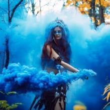 Цветной дым Синий 60 сек
