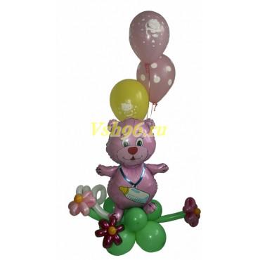 """Композиция """"Мишка с шарами"""""""