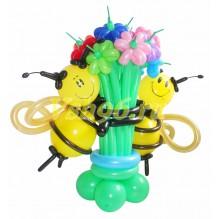 Пчелки с цветами