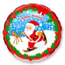 Дед мороз на лыжах / Skate Santa