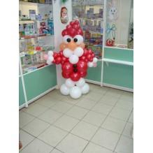 Дед мороз из шариков