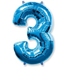 "Цифра ""3"" синий / Three"