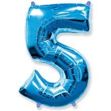 """Цифра """"5"""" синий / Five"""