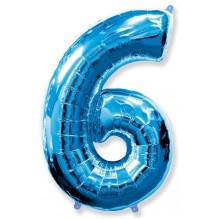 """Цифра """"6"""" синий / Six"""