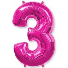 """Цифра """"3"""" фуксия / Three"""