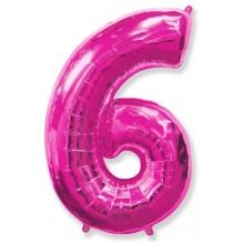 """Цифра """"6"""" фуксия / Six"""