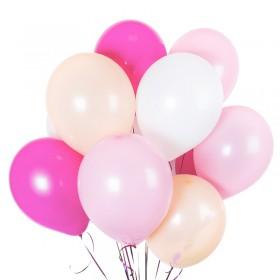 25 шаров в девичьих цветах