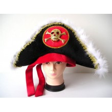 """Шляпа-треуголка """"Пират"""" с черепом"""