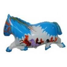 Лошадь синяя, без метализации