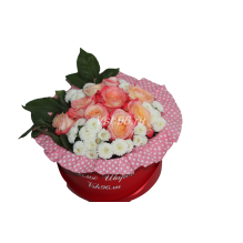 """Цветы в шляпной коробке """"Обыкновенное чудо"""""""