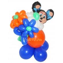 Мини-мышка с букетиком