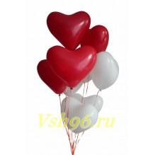 Связка 7 латексных сердец