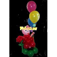 Свинка с шариками
