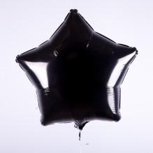 Звезда без рисунка черная