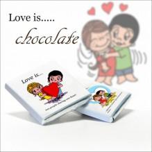 """Мини-шоколад в стиле """"Love is....."""""""