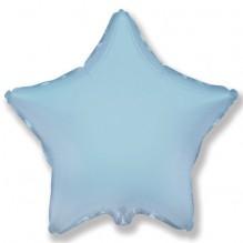 Звезда без рисунка нежно -голубая