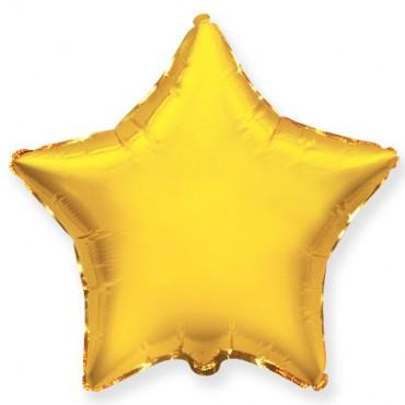 Звезда без рисунка (золото)