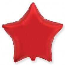 Звезда без рисунка красная