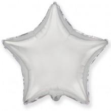 Звезда без рисунка серебро