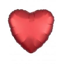 Сердце Красный Ягодный Сатин Люкс  / Satin Luxe Sangria Heart S15