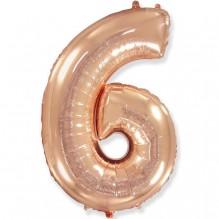 """Цифра """"6"""" розовое золото / Six"""