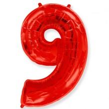 """Цифра """"9"""" красный / Nine"""
