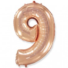 """Цифра """"9"""" розовое золото / Nine"""