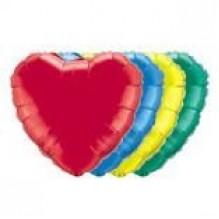 Фольгированный шар Сердце (золото, серебро, красный, синий, голубой)
